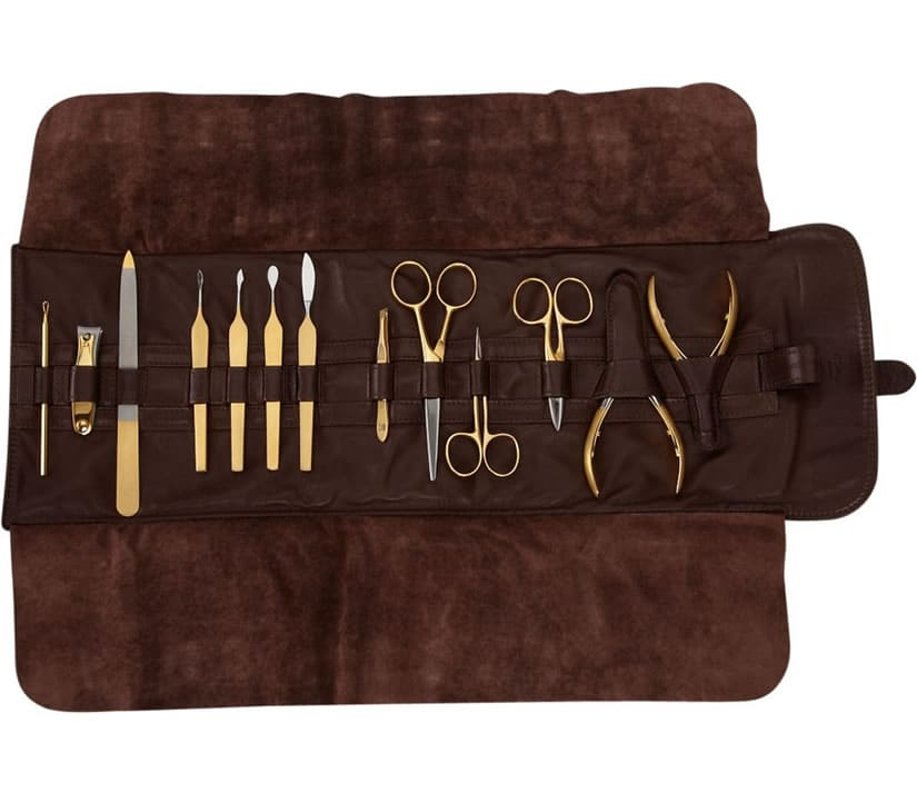 Luxury Manicure Set with 24 Karat Gold Detailing