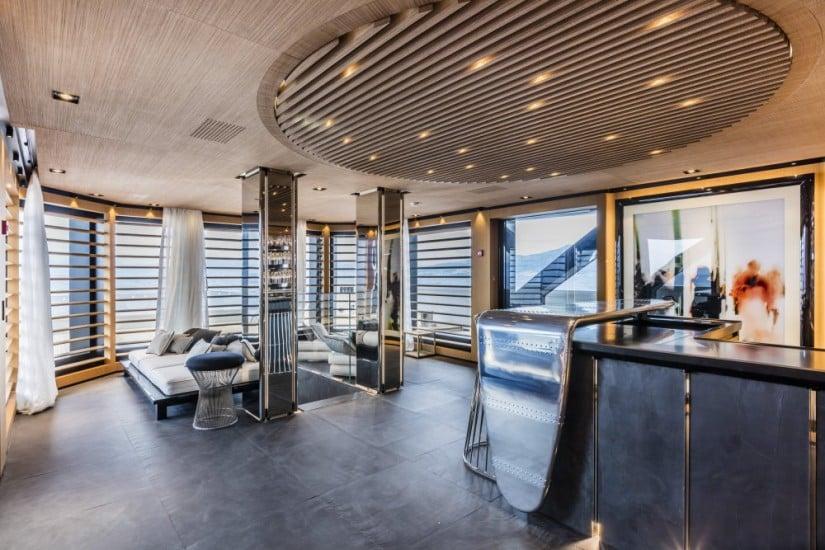 Luxury Suerte Superyacht Living Area