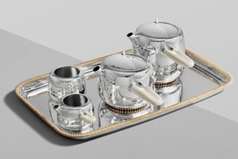 Marc Newson for Georg Jensen Silver Tea Set