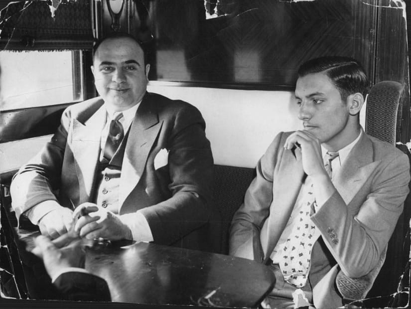 May 1932, Al Capone was transferred to prison for tax evasion