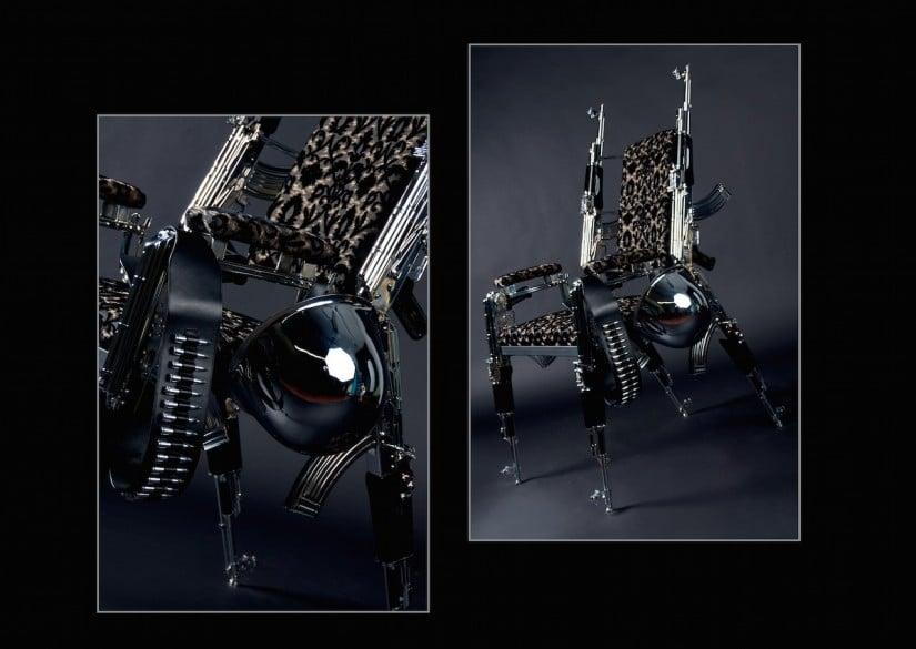 Original AK 47 Designer Chair by Rainer Weber