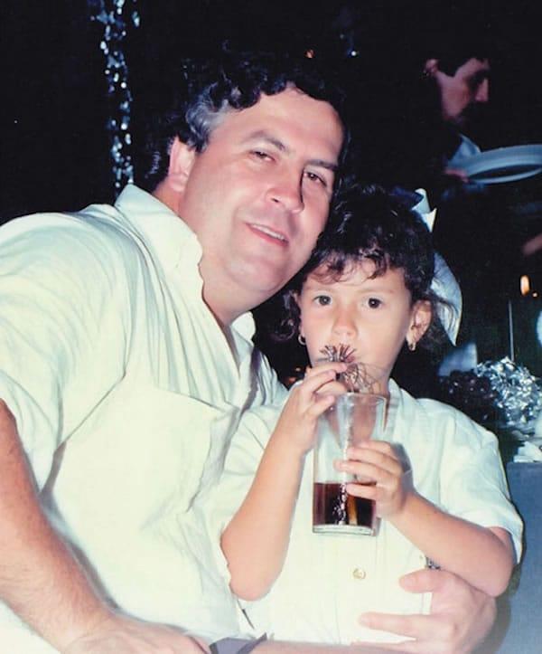 Pablo Escobar and his daughter Manuela Escobar Henao