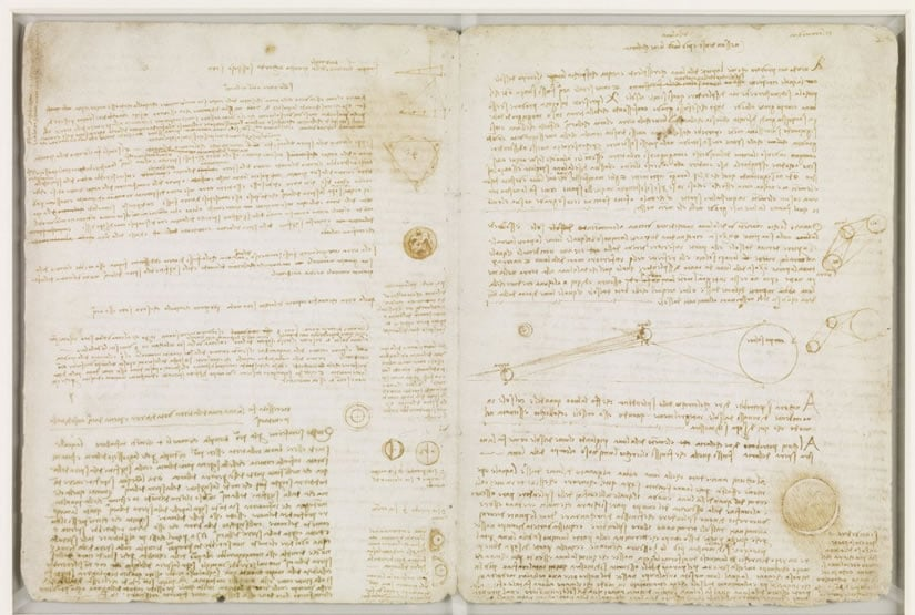 Page of Codex Leicester Leonardo da Vinci
