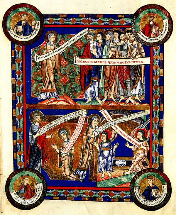 Page of The Gospels of Henry de Lion