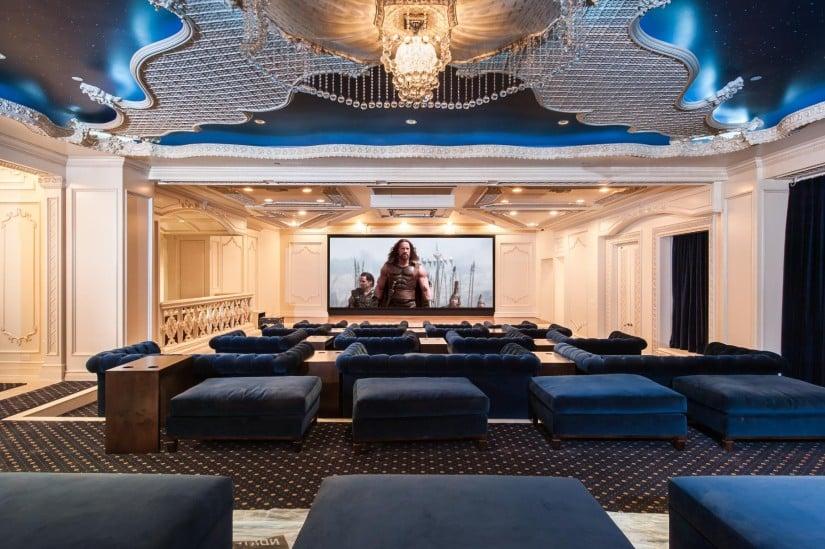 Palazzo di Amore in Beverly Hills Home Theater