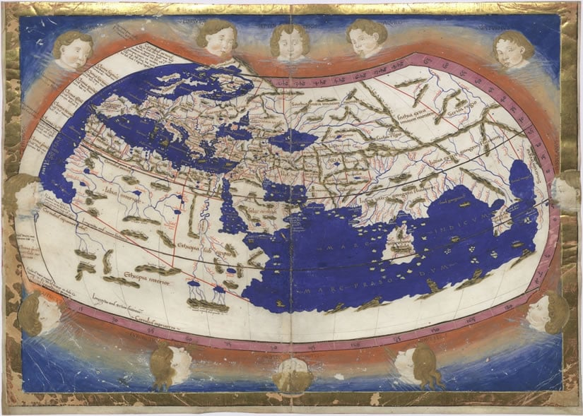 Ptolemy Cosmographia World Map