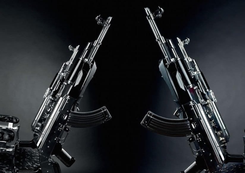 Rainer Weber Chair AK 47 Rifles