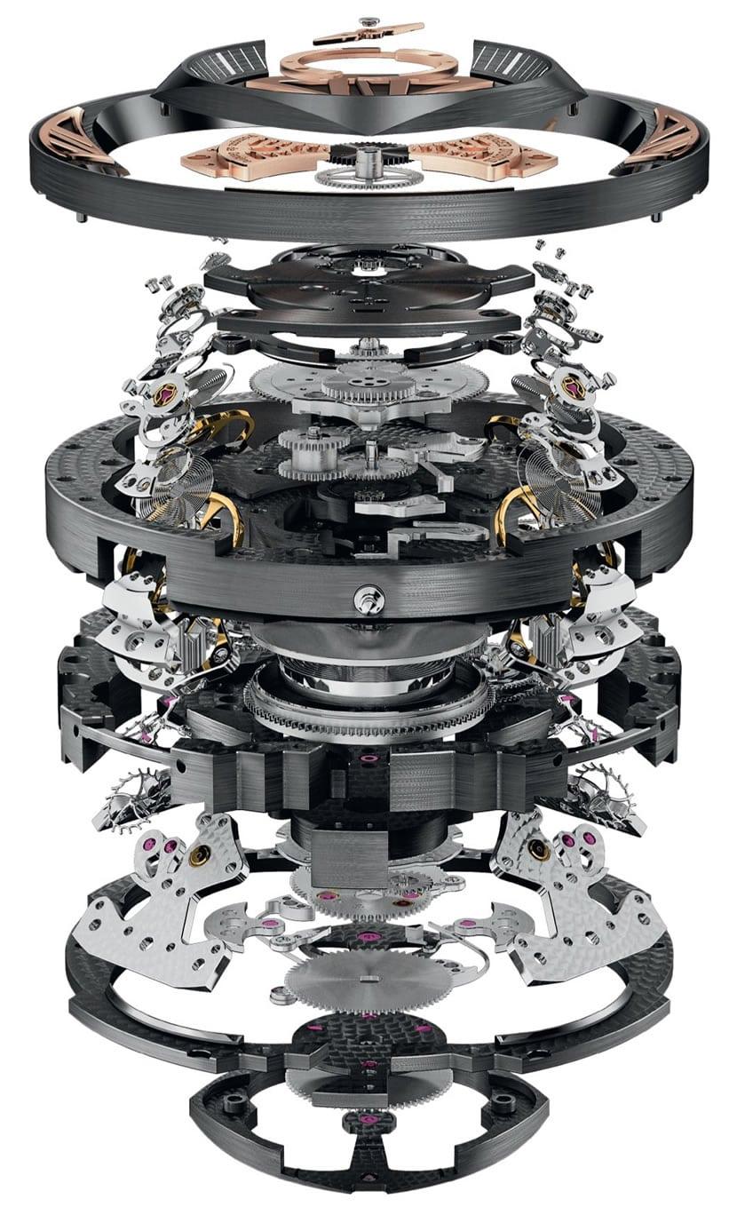Roger Dubuis Excalibur Quatuor Watch Parts