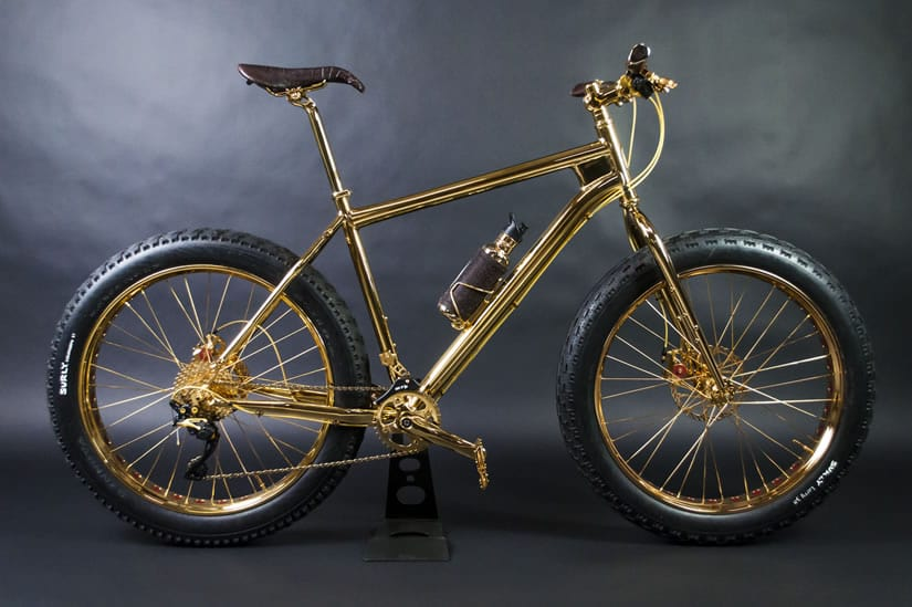 Solid Gold 24K Gold Extreme Mountain Bike
