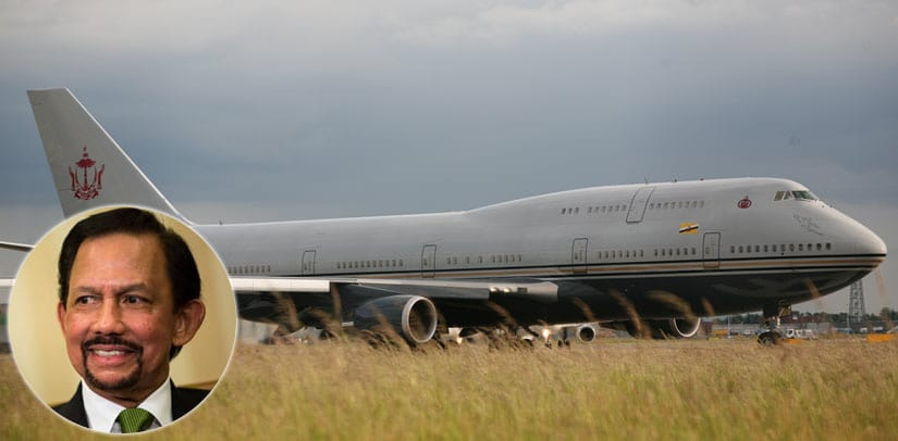 Sultan of Brunei Boeing 747-430 with $120 Million Upgrade