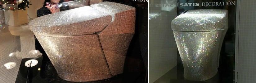 $128,000 Swarovski toilet