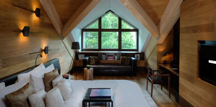 Chedi Andermatt Hotel Bedroom