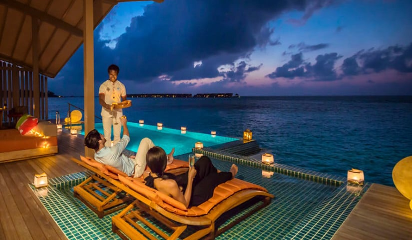 Club Med Finolhu, Outdoor Lounge Area