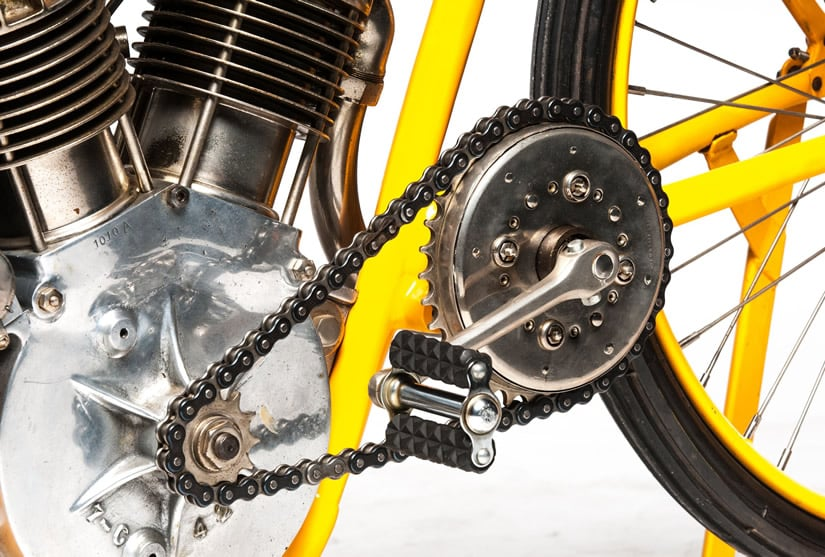 Expensive 1915 Cyclone Motorcycle Pedal
