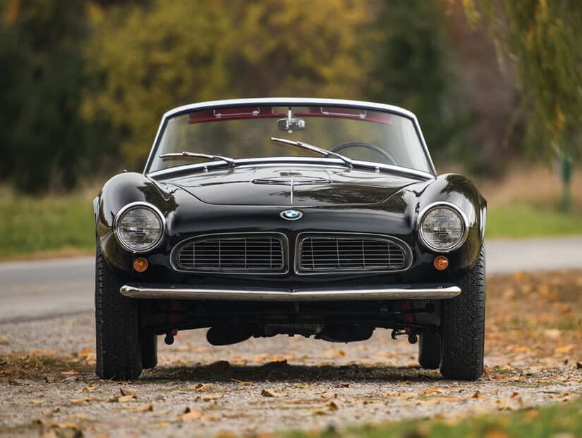 Front View, Unique 1959 BMW 507 Roadster Series II