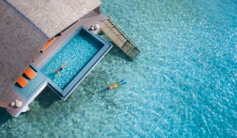 Infinity Pool, Club Med Finolhu, Maldive