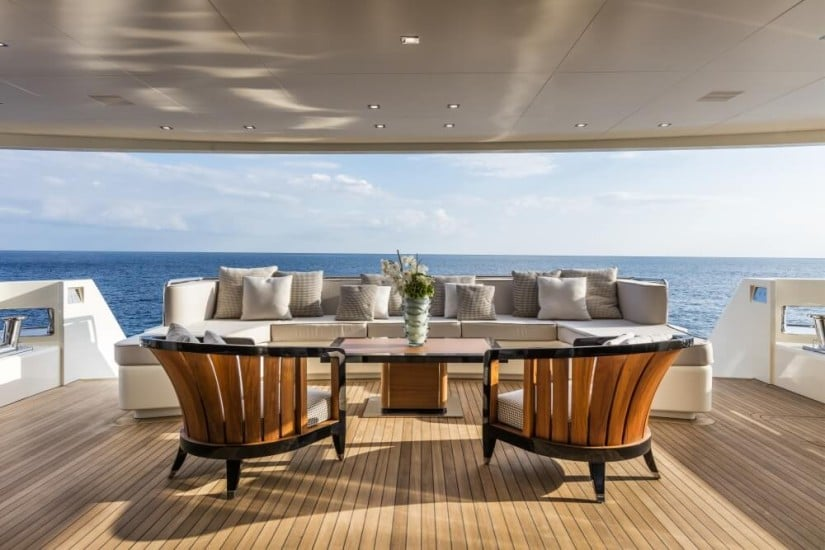 Lounge Area, SF40 Serenity Yacht