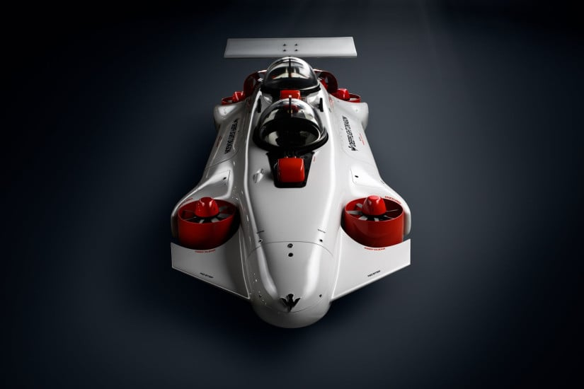 Luxury DeepFlight Dragon Submarine Front View