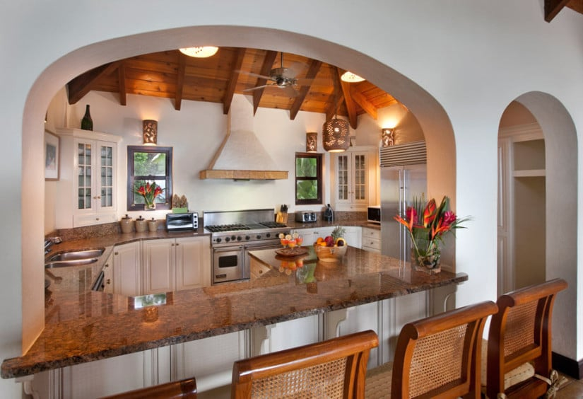Luxury Sol y Sombra Villa in the Caribbean, Kitchen