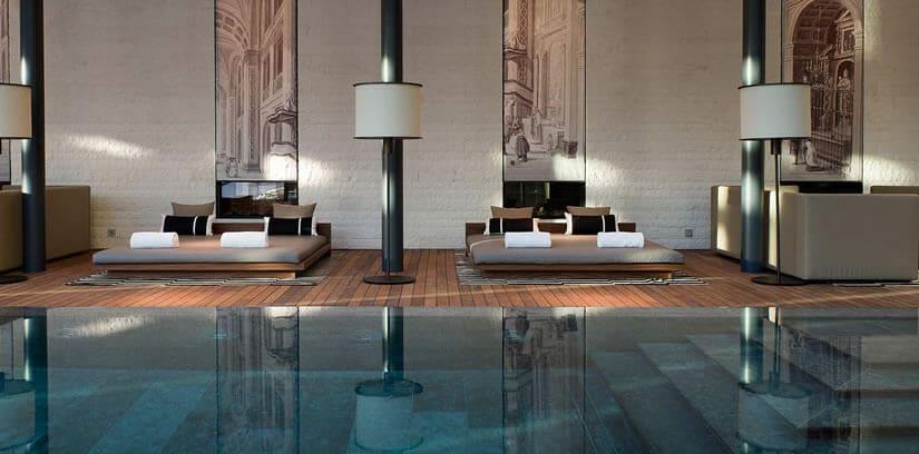 Luxury Swiss Chedi Andermatt Hotel Indoor Pool