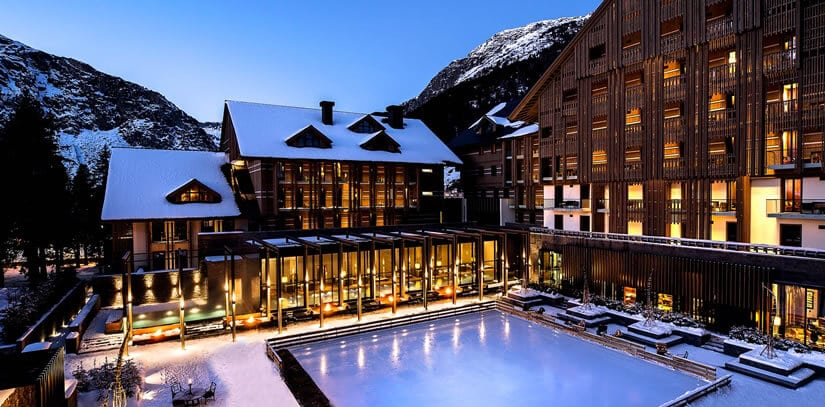 Luxury Swiss Chedi Andermatt Hotel in the Swiss Alps