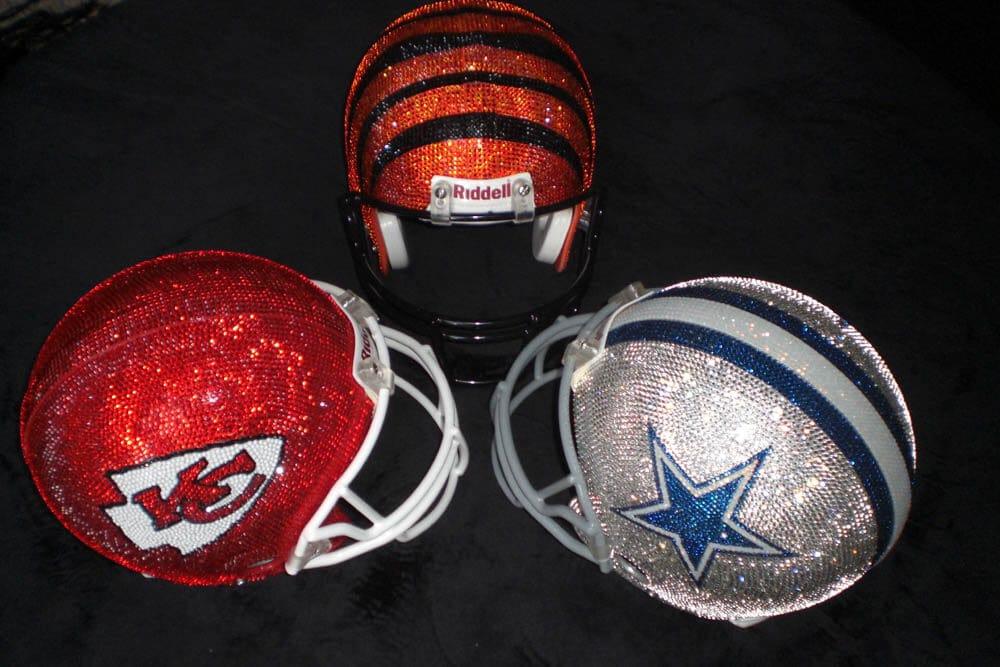 Quinn Gregory Swarovski NFL Helmets