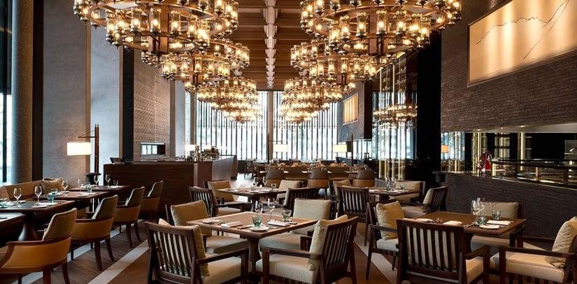 Restaurant The Chedi Andermatt Hotel in Switzerland