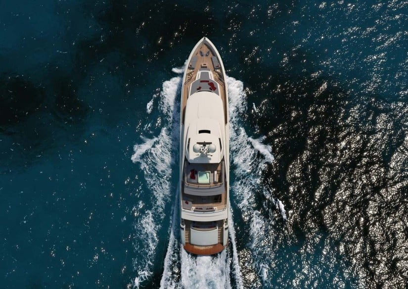 Super Yacht Serenity Top View