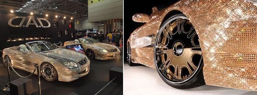 Swarovski Crystal Studded Mercedes-Benz SL600
