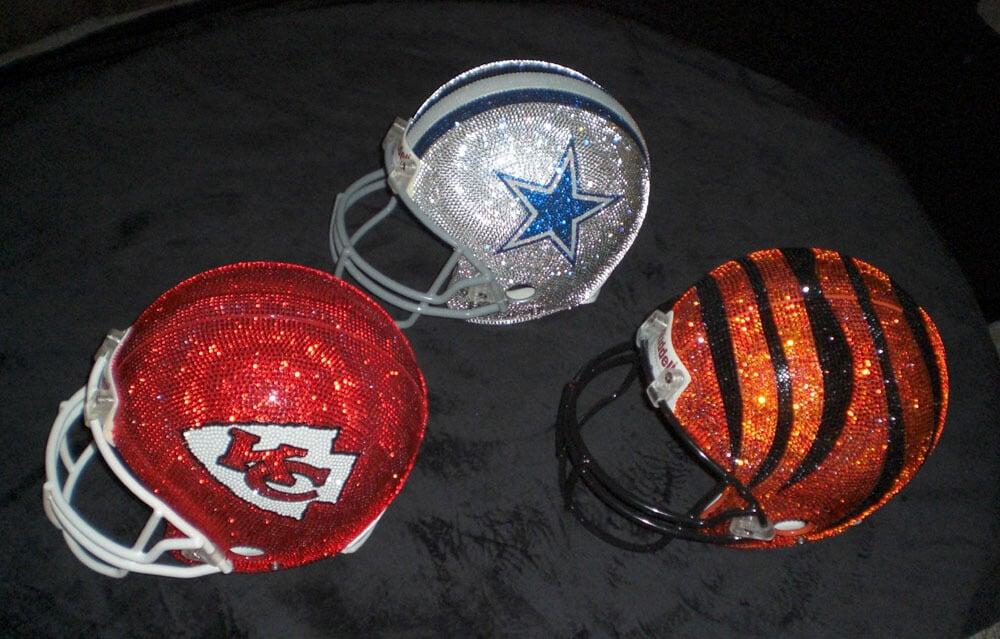 Swarovski Helmets by Quinn Gregory