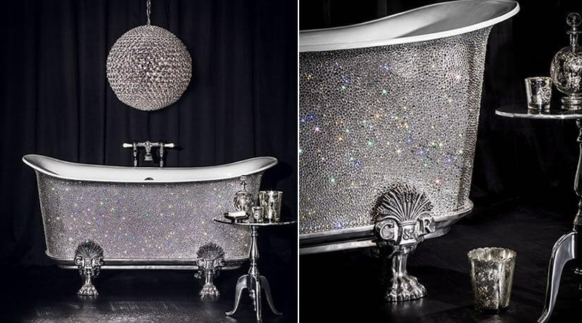 Swarovski bathtub - Custom Crystal Bathtub by Catchpole & Rye