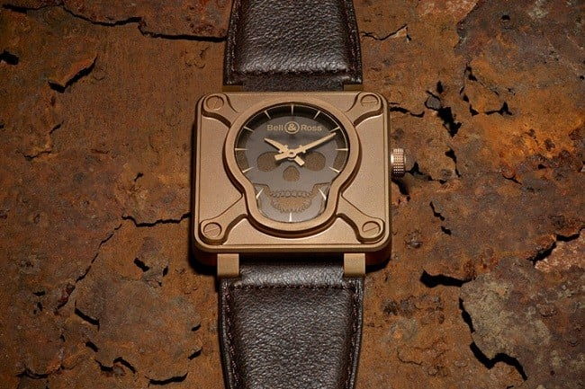 Bell & Ross BR 01 Skull Bronze Watch 1