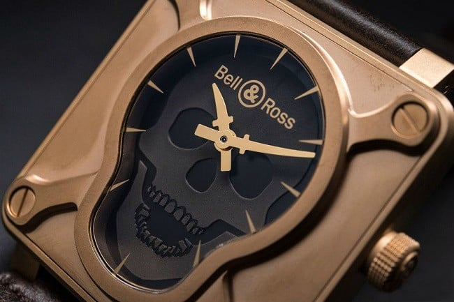 Bell & Ross BR 01 Skull Bronze Watch 5