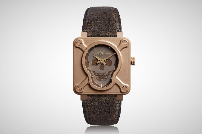 Bell & Ross BR 01 Skull Bronze Watch 6