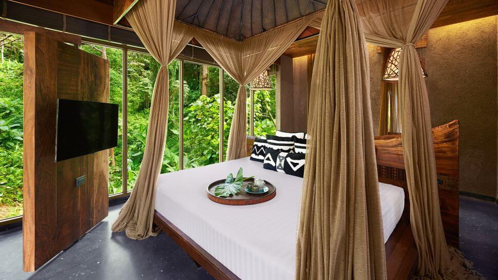 Cottage View Bed, Serene Keemala Hotel