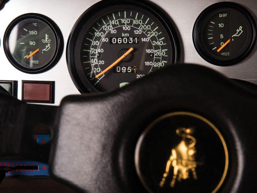Dashboard, 1981 Lamborghini Countach LP400 S Series III