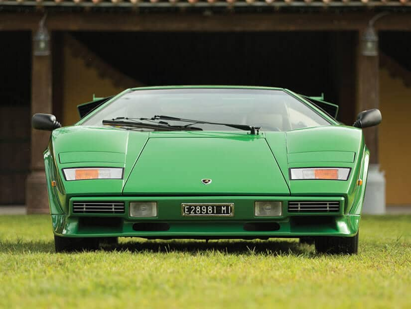 Front View, 1981 Lamborghini Countach LP400 S Series III