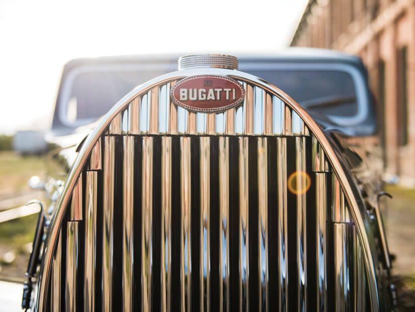 Logo, 1938 Bugatti Type 57C Atalante