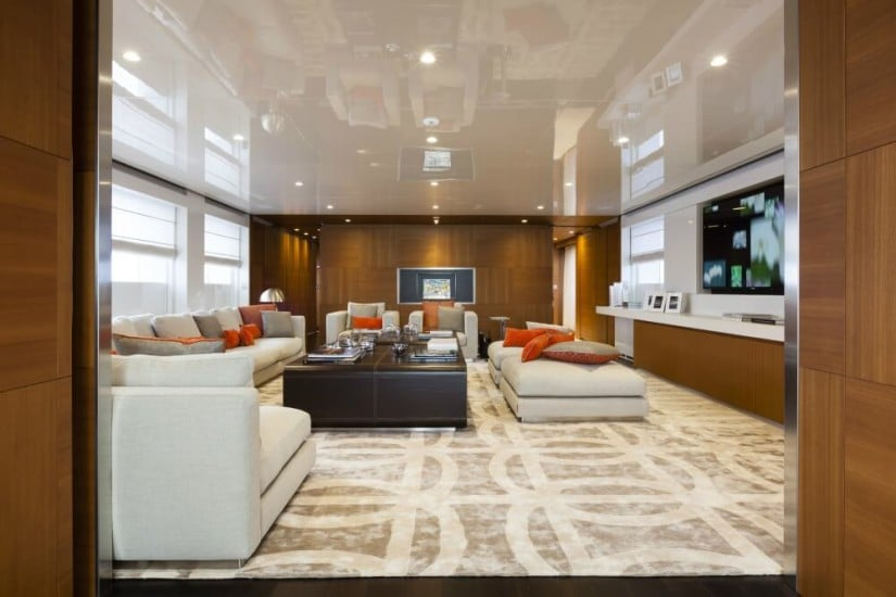 Luxury Superyacht Pachamama, Main Saloon