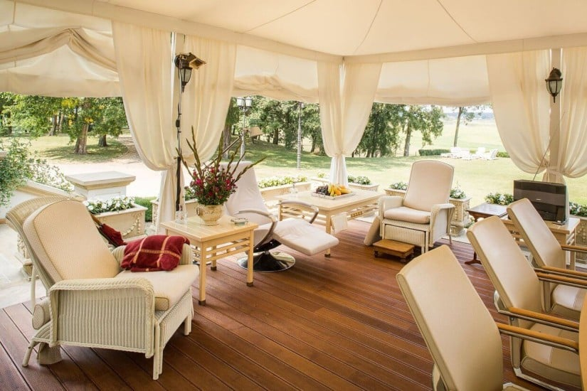 Outdoor Lounge Area, Sowiniec Polo Club & Manor, Poland