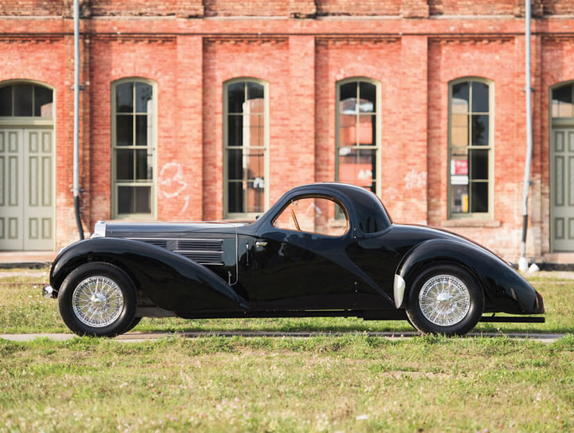 Side View, 1938 Bugatti Type 57C Atalante