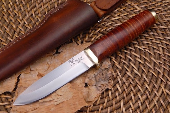 Vehement Knives Leather Bushcrafter 5