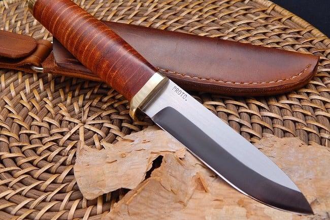 Vehement Knives Leather Bushcrafter 6