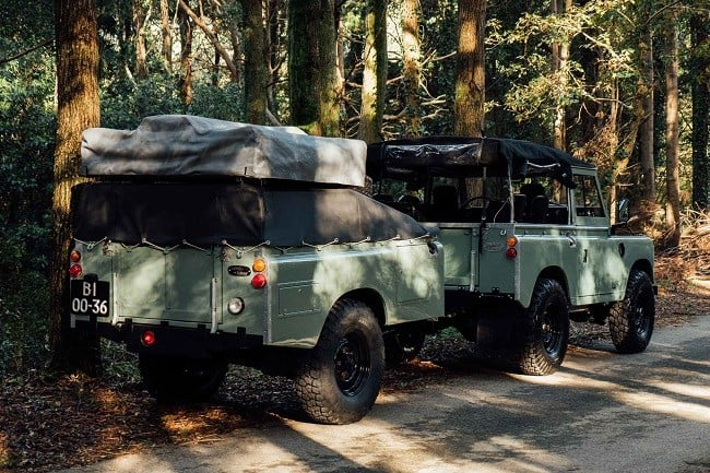 1982 Land Rover Series 3 + Camping Trailer 1
