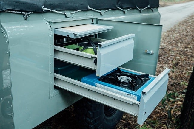 1982 Land Rover Series 3 + Camping Trailer 12