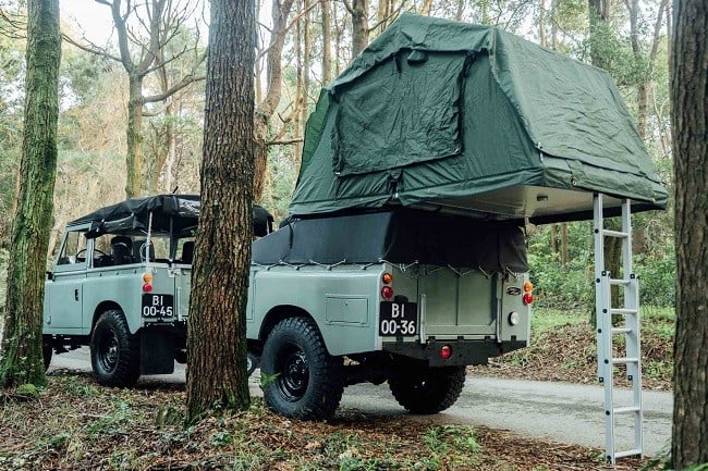 1982 Land Rover Series 3 + Camping Trailer 17