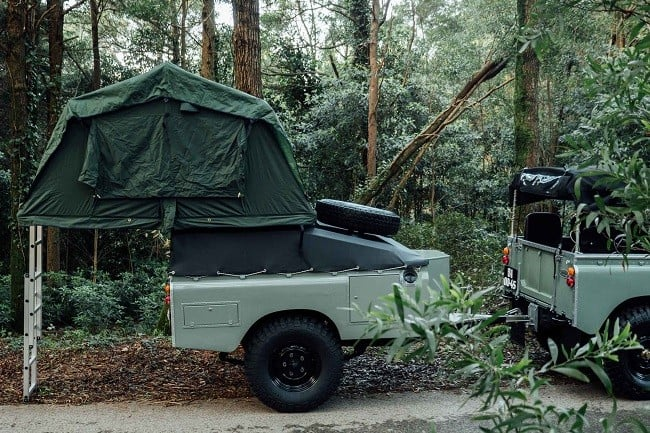 1982 Land Rover Series 3 + Camping Trailer 8