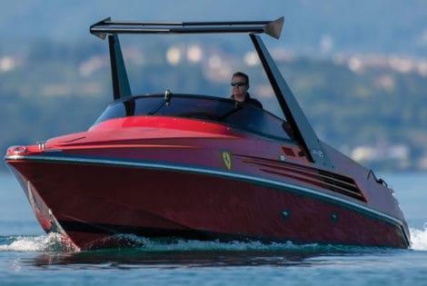 1990 Riva Ferari 32 speedboat front view