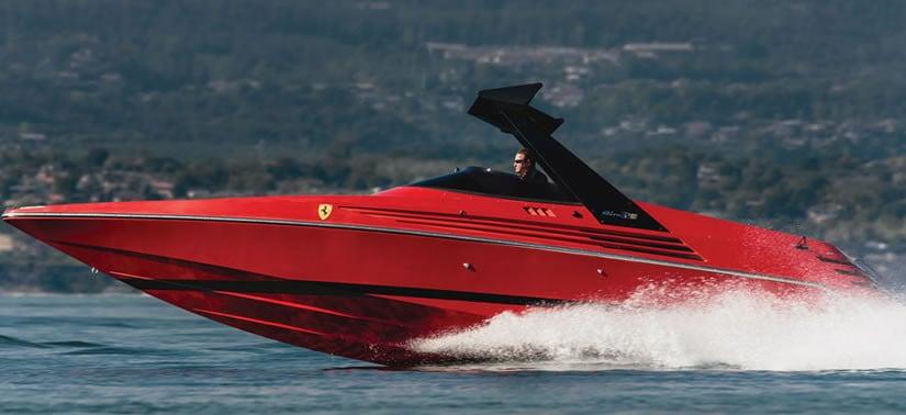 1990 Riva Ferari 32 speedboat lateral view
