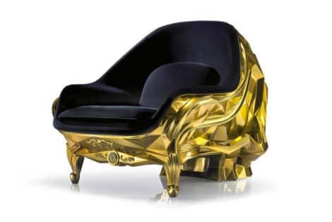 24-Karat Gold Skull Armchair, Front View